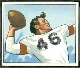 Ken Carpenter 1950 Bowman rookie football card
