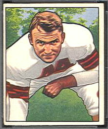Lou Rymkus 1950 Bowman football card