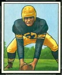 1950 Bowman Frank Sinkovitz football card