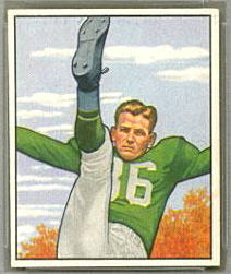 Joe Muha 1950 Bowman football card