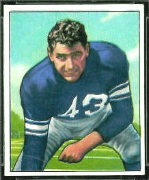 Martin Ruby 1950 Bowman football card