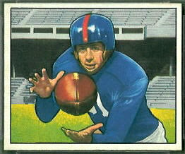 Bill Swiacki 1950 Bowman football card