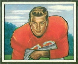 Knox Ramsey 1950 Bowman rookie football card