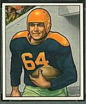 1950 Bowman Ted Fritsch Sr. football card