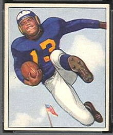 1950 Bowman Tank Younger football card