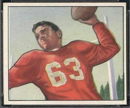 Frankie Albert 1950 Bowman football card