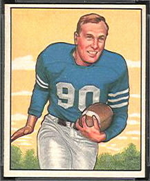 Bob Hoernschemeyer 1950 Bowman rookie football card