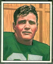 Barry French 1950 Bowman football card