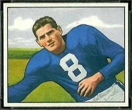Sam Tamburo 1950 Bowman football card
