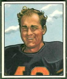 "Robert ""Buddy"" Tinsley 1950 Bowman football card"