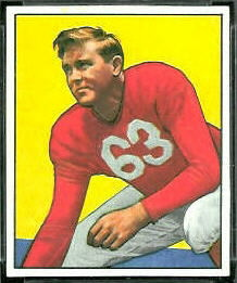 Bill Blackburn 1950 Bowman football card