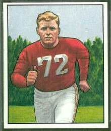 1950 Bowman Bill Fischer rookie football card