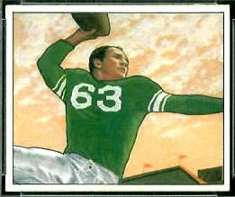 1950 Bowman Y.A. Tittle rookie football card
