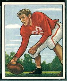 Bill Johnson 1950 Bowman rookie football card