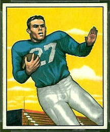1950 Bowman Don Doll rookie football card