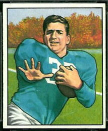 John Panelli 1950 Bowman football card