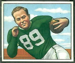 1950 Bowman Bob Kelly football card