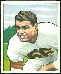 1950 Bowman Dante Lavelli rookie football card