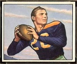 1950 Bowman Tobin Rote rookie football card