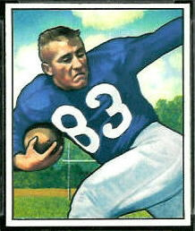 Lowell Tew 1950 Bowman football card