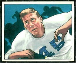 Bob Reinhard 1950 Bowman football card