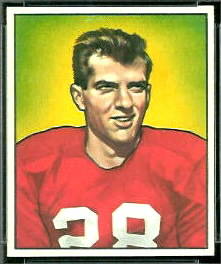 1950 Bowman Frank Tripucka football card