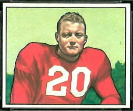 1950 Bowman Buster Ramsey rookie football card