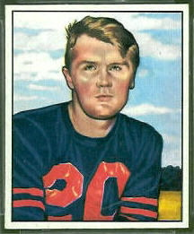 Jim Keane 1950 Bowman football card