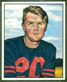 Jim Keane 1950 Bowman football card