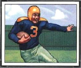 Tony Canadeo 1950 Bowman football card