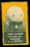 Frank Gitschier 1950 Topps Felt Backs football card