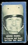 George Hughes 1950 Topps Felt Backs football card
