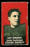 Gary Kerkorian 1950 Topps Felt Backs football card