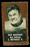 1950 Topps Felt Back Dick McKissack football card, brown version
