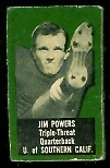 Jim Powers 1950 Topps Felt Backs football card