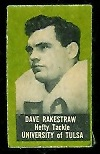 Dave Rakestraw 1950 Topps Felt Backs football card