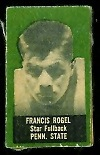 Fran Rogel 1950 Topps Felt Backs football card