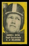 Darrell Royal 1950 Topps Felt Backs rookie football card - yellow