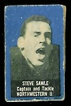 Steve Sawle 1950 Topps Felt Backs football card