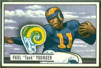 Tank Younger 1951 Bowman football card