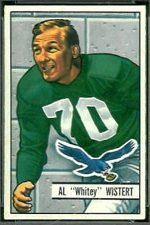 1951 Bowman Al Wistert football card