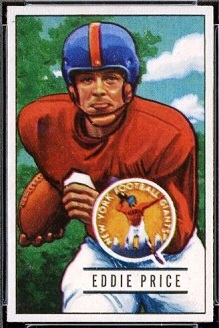 Eddie Price 1951 Bowman football card