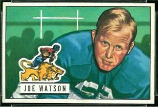 1951 Bowman Joe Watson football card