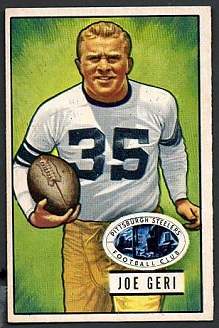 Joe Geri 1951 Bowman football card