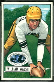 Bill Walsh 1951 Bowman rookie football card