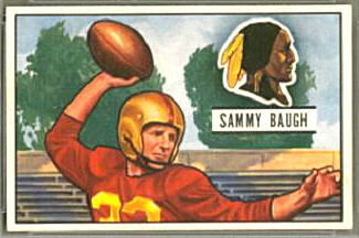 Sammy Baugh 1951 Bowman football card