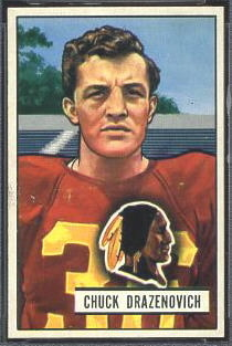 Chuck Drazenovich 1951 Bowman football card