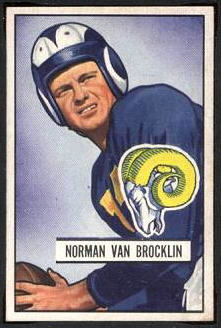 Norm Van Brocklin 1951 Bowman football card
