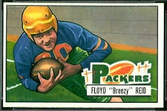 Floyd Reid 1951 Bowman football card