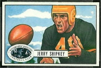Jerry Shipkey 1951 Bowman football card